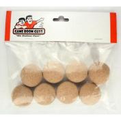 Set of 8 Official Natural Cork Foosballs for Tornado Dynamo or Shelti Tables
