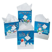 Christmas Religious Snowman Gift Bags (1 DZ) by Fun Express