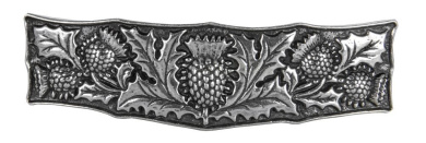 Hair Clip | Barrette | Thistle | Handmade in the USA by Oberon Design