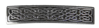 Hair Clip | Barrette | Small Celtic | Handmade in the USA by Oberon Design