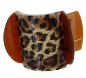 Leopard Print Yoga Hair Clamp Claw