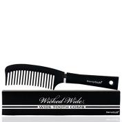 RemySoft Wicked-Wide - Wide Tooth Detangling Comb - Safe for Hair Extensions, Weaves and Wigs