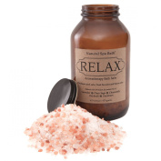 Relax Aromatherapy Bath Salts - Stress Relieving Blend with Lavender, Clary Sage, Chamomile, Geranium, and Patchouli