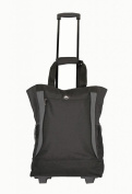 Amaro Wheeled Manhattan Tote Bag black