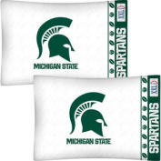 NCAA Michigan State Spartans Football Set of Two Pillowcases