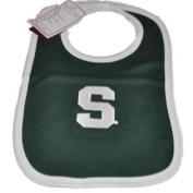 Michigan State Spartans Infant Baby Newborn Green Knit Bib