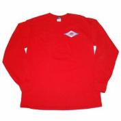 Kansas Jayhawks Blue 84 Red Long Sleeve Preshrunk Cotton T-Shirt