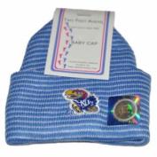 Kansas Jayhawks Two Feet Ahead Infant Baby Blue Striped Knit Beanie Hat Cap
