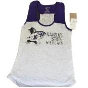 Kansas State Wildcats Blue 84 Womens Translucent White Tank Top Shirt