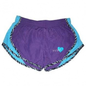 Kansas State Wildcats Cotton Exchange Girls Purple Zebra Trim Slick Shorts