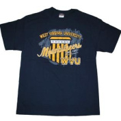 West Virginia Mountaineers The Cotton Exchange Navy Faded Logo T-Shirt