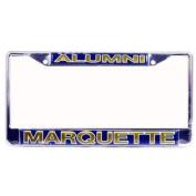 Marquette Golden Eagles Alumni Metal Licence Plate Frame W/domed Insert