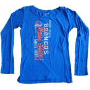 Boise State Broncos Womens Cotton Long Sleeve Blue T-Shirt