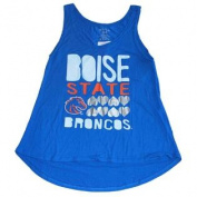 Boise State Broncos Womens Heart Blue Tank Top T-Shirt