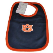 Auburn Tigers Infant Baby Newborn Navy Orange Knit Bib