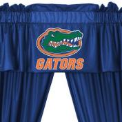 NCAA Florida Gators 5pc Long Curtain-Drapes Valance Set