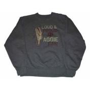 Texas A & M Aggies Men's Gear Loud & Proud Aggie Fan Sweatshirt Grey