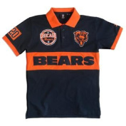 Chicago Bears KLEW Forever Collectibles Wordmark Rugby Polo Shirt Size