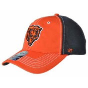 Chicago Bears 47 Brand Orange Navy Mesh Closer Performance Flexfit Hat Cap
