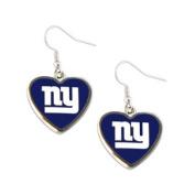 New York Giants NFL Sports Team Non-Swirl Heart Shape Dangle Earring Charm Jewellery Pendant