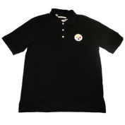 Pittsburgh Steelers Black Knit Polo Shirt