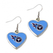 Tennessee Titans NFL Sports Team Non-Swirl Heart Shape Dangle Earring Charm Jewellery Pendant