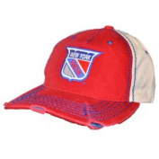 New York Rangers Retro Brand Red Beige Vintage Stitched Snapback Hat Cap