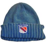 New York Rangers Retro Brand Unisex Faded Blue Cuffed Knit Beanie Hat Cap