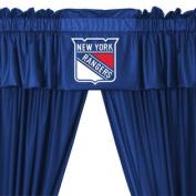 NHL New York Rangers 5pc Long Curtains-Drapes Valance Set