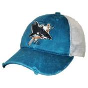 San Jose Sharks Retro Brand Teal Worn Mesh Vintage Adjustable Snapback Hat Cap
