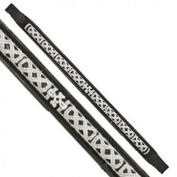 Exselle Fancy Stitched Celtic Knot Brow Band Black