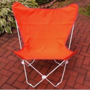Retro Folding Butterfly Chair and Tangelo Orange Cover with White Frame