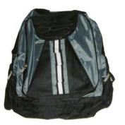 ProSport Grey & Black Backpack Sport School Travel Back Pack