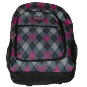 ProSport Grey Argyle & Pink Skull Backpack Sport School Travel Back Pack