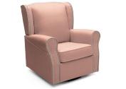 Delta Children Middleton Upholstered Glider, Blush