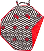 The Bumble Collection Bum and Tum Mini Mat, Royal Ruby Montage, Medium