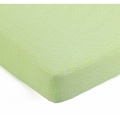 Lavender Poppy Lime & White Dot Crib Fitted Sheet by Balboa Baby