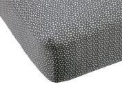 Lavender Poppy Slate & White Dot Crib Fitted Sheet by Balboa Baby