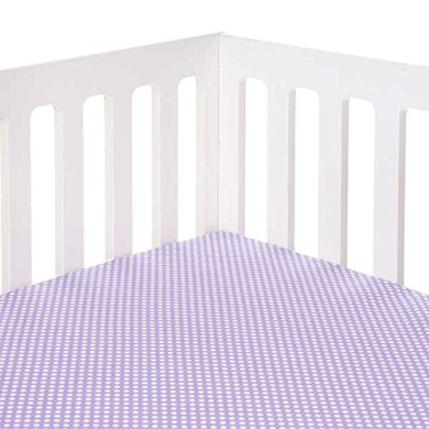 Lily & Flo Fitted Sheet - Purple Dot - same as in set