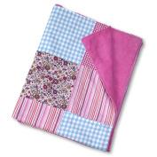 Patchwork Plush Blanket (Pink)