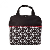 J.L. Childress MaxiCOOL 4-Bottle Cooler, Black/Red Floral