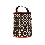 J.L. Childress TwoCOOL Double Bottle Cooler, Black/Red Floral