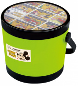 Nishiki Chemical [round storage container] Mickey Mouse round container (S) Green