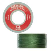 Silkon Bead Stringing Cord Size #2 Jade Green - 20 yard spool. Made in Switzerland