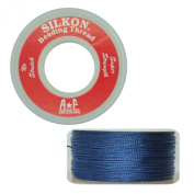 Silkon Bead Stringing Cord Size #2 Sodalite Navy Blue - 20 yard spool. Made in Switzerland