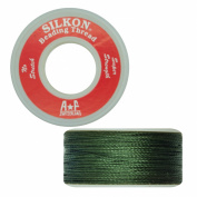 Silkon Bead Stringing Cord Size #5 Jade Green - 20 yard spool. Made in Switzerland
