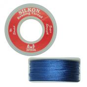 Silkon Bead Stringing Cord Size #5 Lapis Royal Blue - 20 yard spool. Made in Switzerland