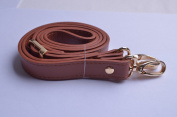 Wento 1pcs 110cm - 120cm Pu Brown Leather Adjustable Bag Strap,soft Leather Shoulder Straps,replacement Cross Body Purse Straps,handbag Bag Wallet Straps