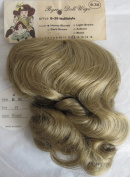 BYRON Craft DOLL HAIR WIG Style B-30 Fits SIZE 33cm Colour HONEY BLONDE Synthetic JAPAN Fibre w Front Bangs & Long Loose Curls at Back