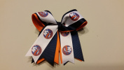 New York Hockey Hair Bow